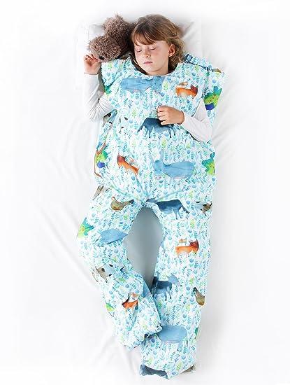 Sacos de dormir infantiles con piernas. Talla 5 años. Relleno FINO