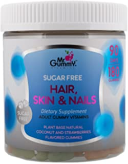 Mr Gummy Vitamins Hair, Skin & Nails Health Sugar Free Premium Supplement - 100%