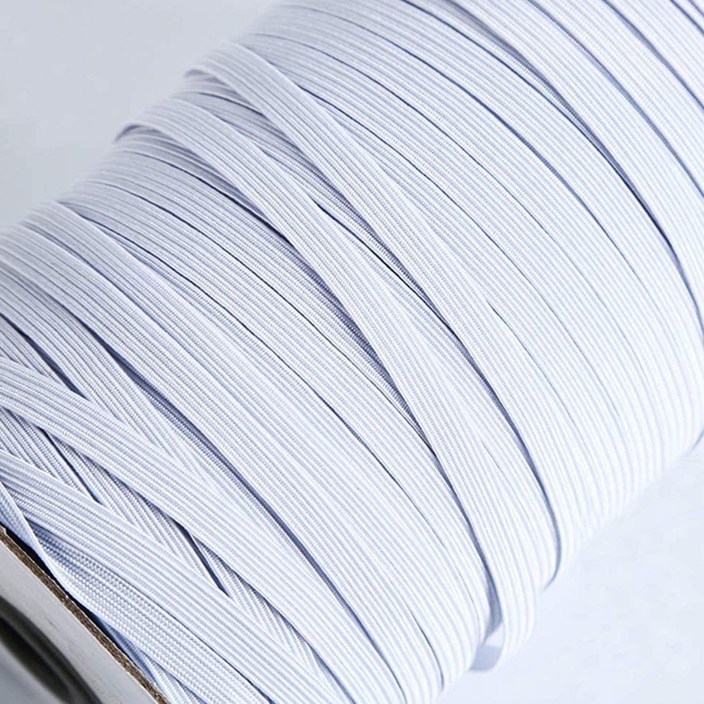 White Heavy Stretch String Braided Elastic Cord Crafts Elastic Rope 200 Yards Length 1//8inch Width Elastic Band for Sewing Crafts DIY Cuff Bedspread Mask DIY