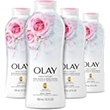 Olay Fresh Outlast Body Wash with B3, Rose Water and Sweet Nectar, 22 Fl Oz (Pack of 4)