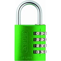 Abus 145/40 VERDE B - Candado aluminio combinacion 40mm 4 dígitos verde blister