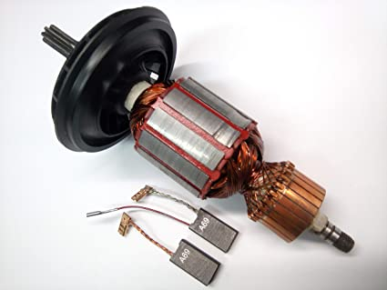 GBH10DC Motore ancora Rotor Runner carbone per Bosch GSH10C cuscinetto boccola di stoccaggio