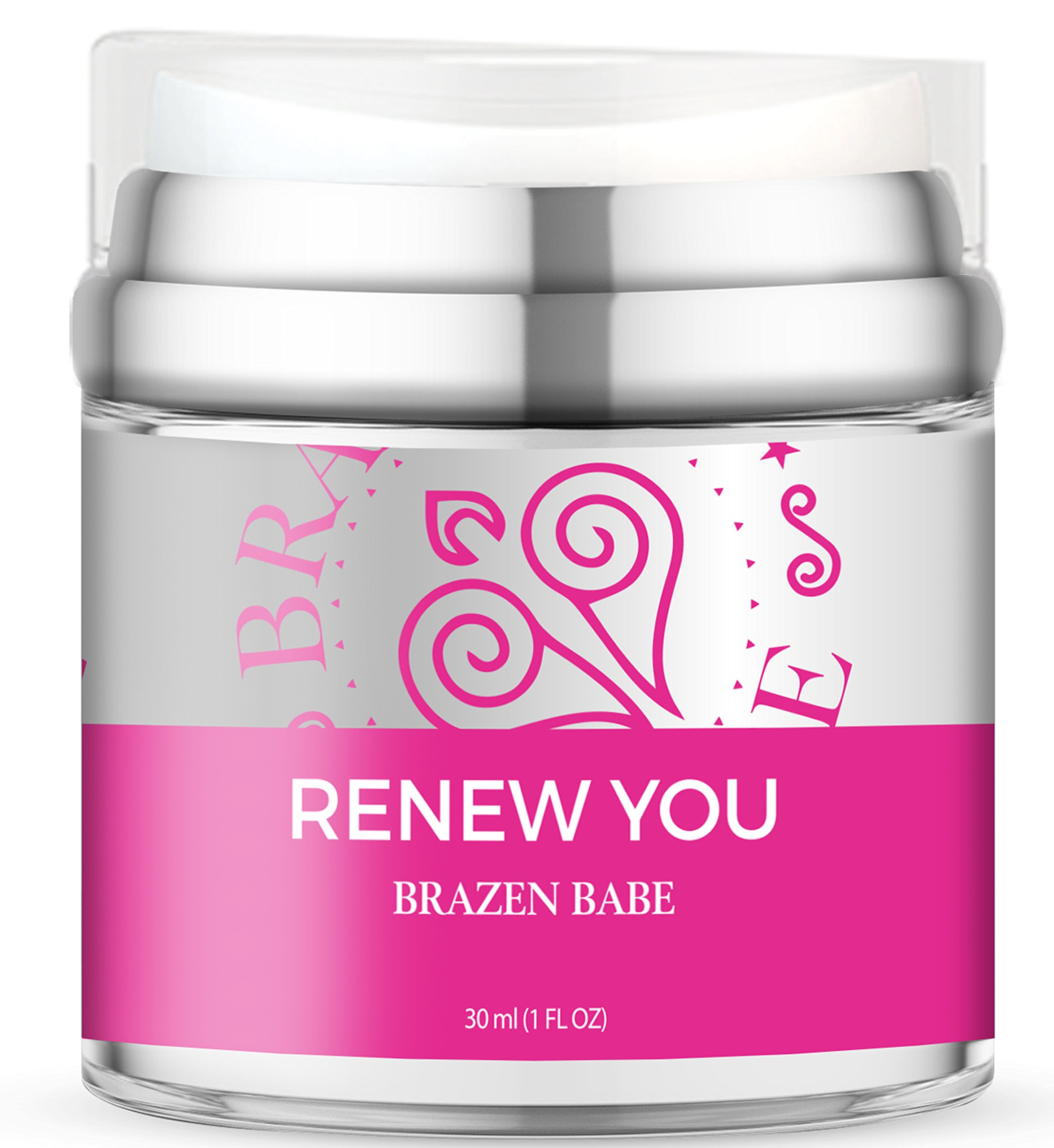 """Anti Aging Night Cream,""""Renew You"""" by Brazen Babe- Scientifically Proven Natural Face and Neck Moisturizer with Squalane and Hyaluronic Acid Targets Telomeres for DNA Repair"""