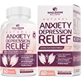 Happy Pills Natural Anti Anxiety Relief & Depression Supplement | Dopamine Mood Boost, Serotonin Support, Relieve Stress…