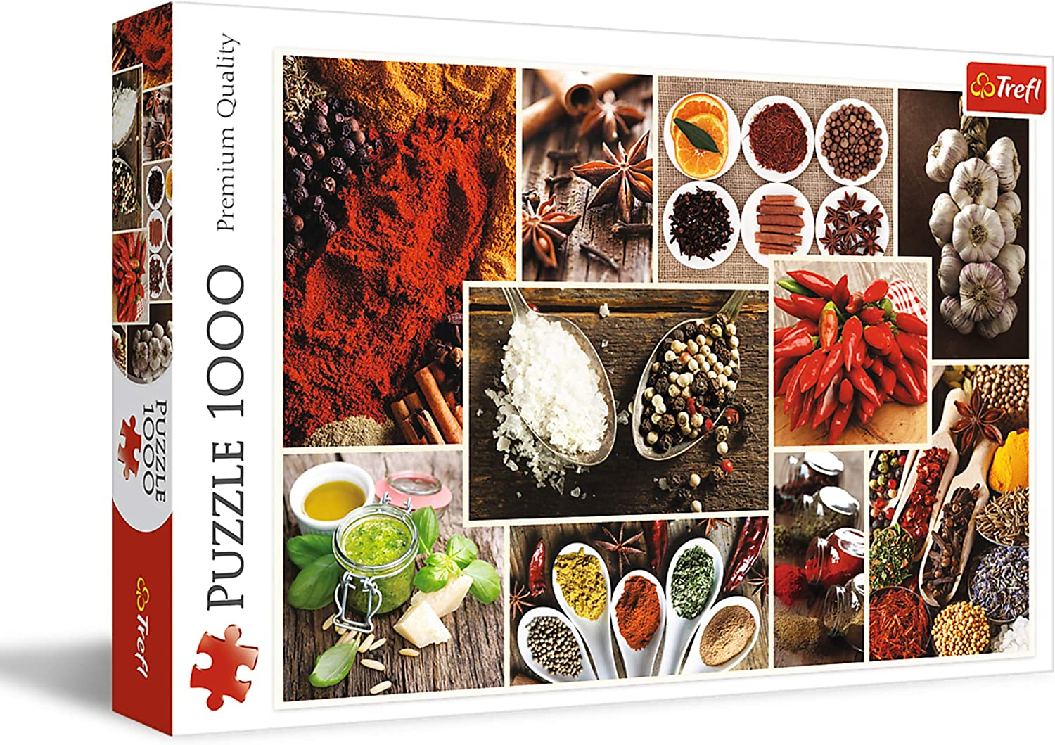 Trefl 1000 Piece Jigsaw Puzzle, Spices, Collage