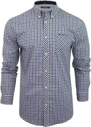 Ben Sherman - Camisa de manga larga para hombre