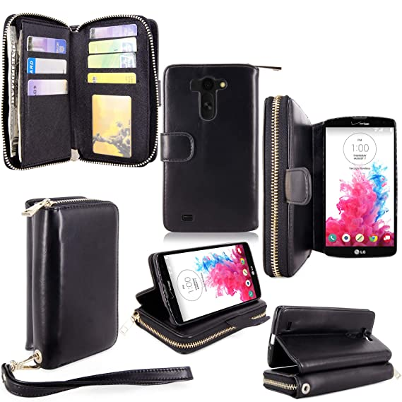 newest 611e7 c6426 For LG G Vista Case - Cellularvilla Pu Leather flip Wallet Bag Pouch Case  with Credit Card Slots Pockets Cover For LG G Vista VS880 (Verizon / AT&T)  ...