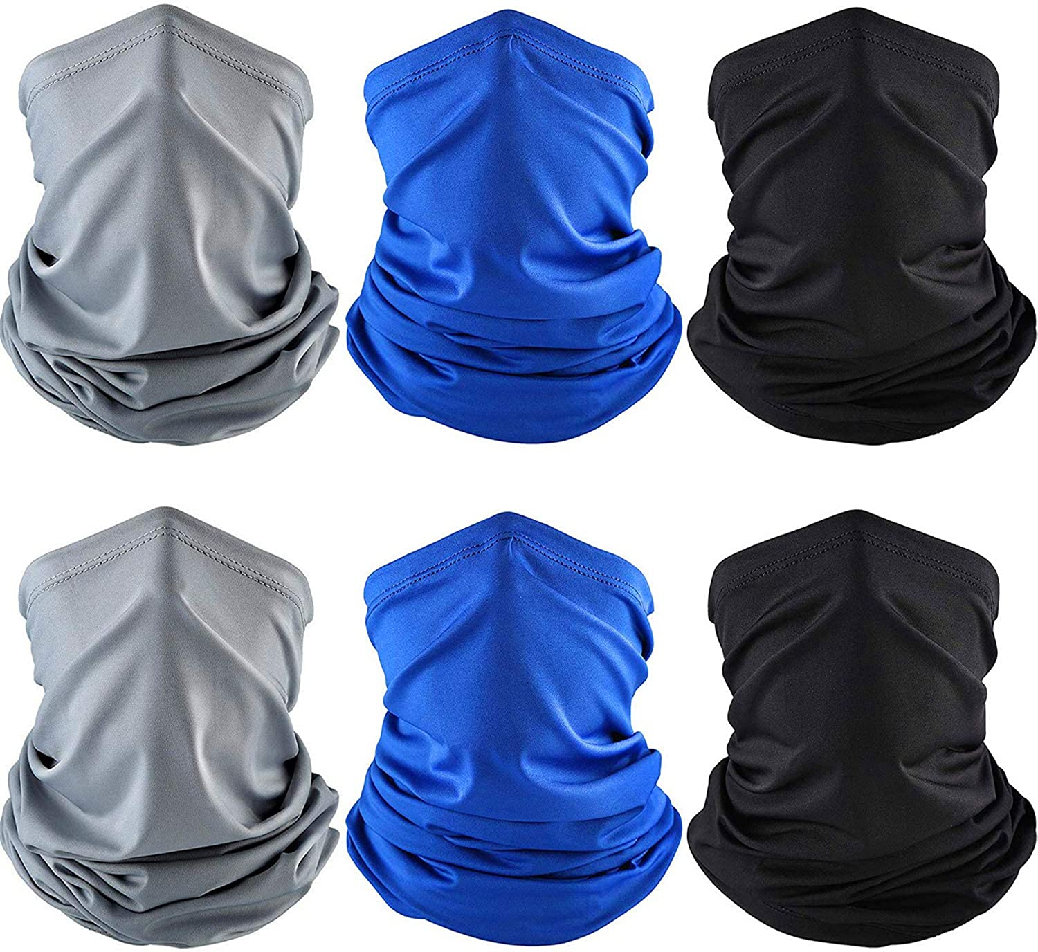 6 Pieces Summer UV Protection Face Clothing Neck Gaiter Scarf Sunscreen Breathable Bandana