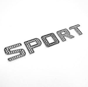 Iced out Sport Crystal Diamond Chrome Bling Emblem Badge Kit