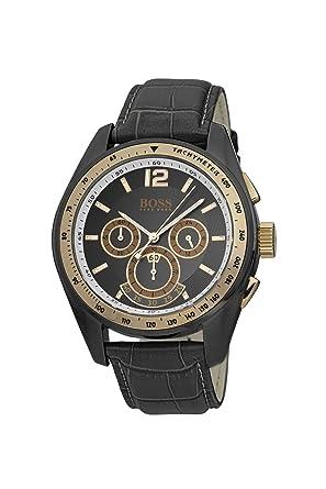 Moderne armbanduhr herren  Hugo Boss Herren-Armbanduhr XL Gents Modern Chronograph Leder ...