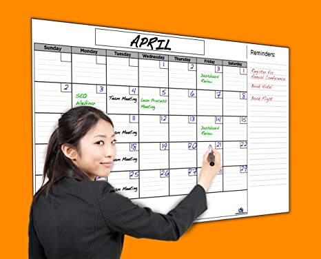Usi Calendar.Usi Jumbo Dry Erase Wall Calendar 36 X60 Wipes 100 Clean Never Leaves Marker Stains