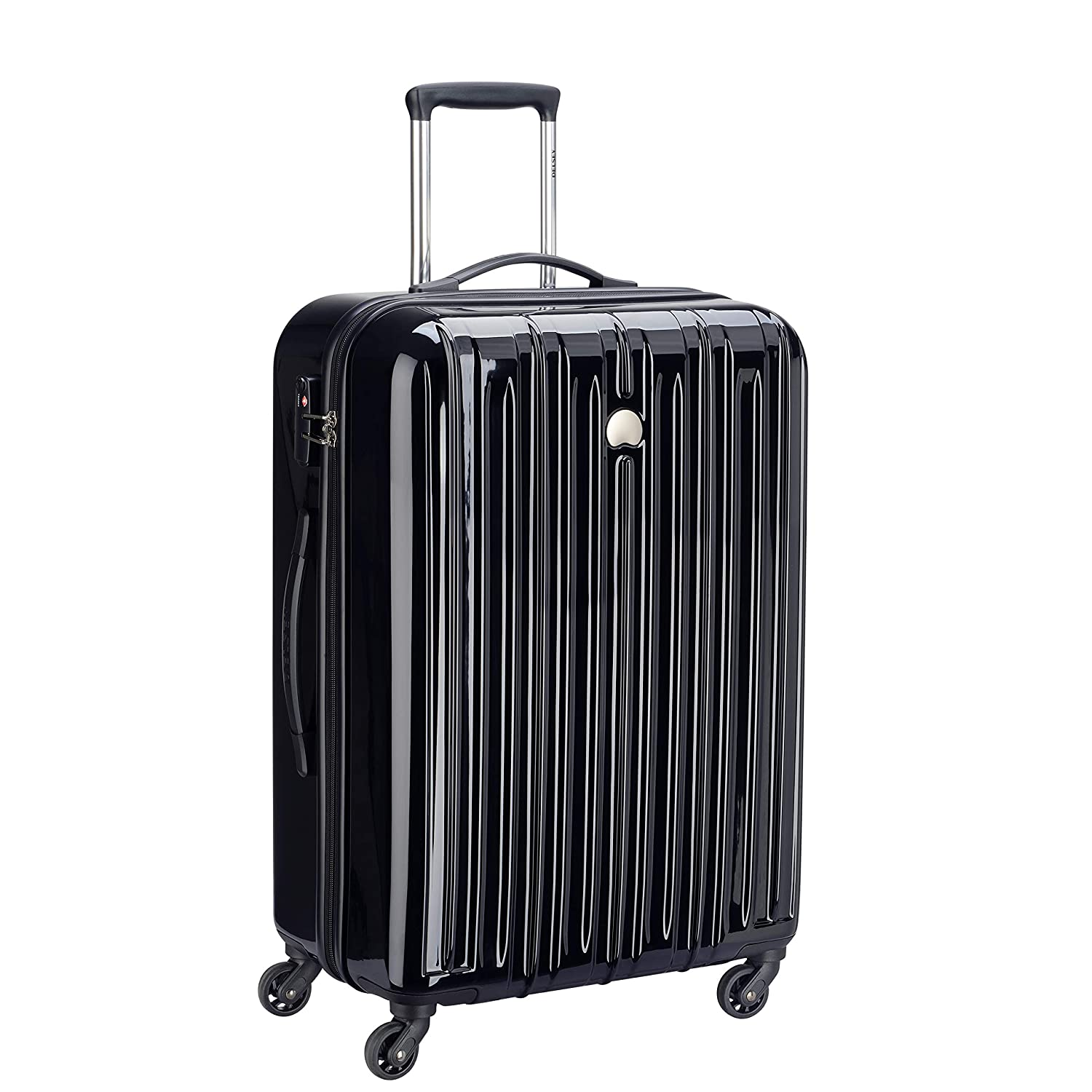 Delsey ABS 59.5 cms Black Hardsided Carry On (Air Longitude 2)