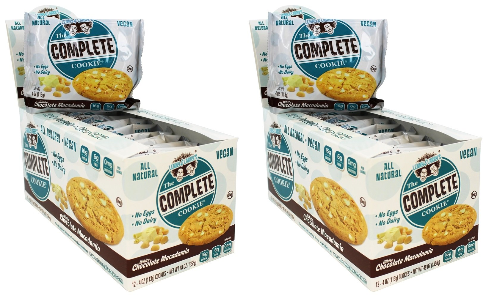 Lenny & Larry's The Complete Cookie, White Chocolate Macadamia, 24 Count