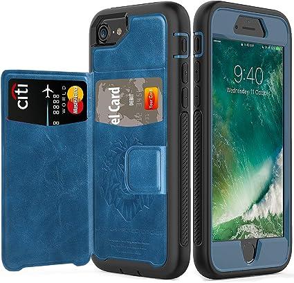 Coque iPhone 8, iPhone 7, iPhone 6, 6s Wallet Case avec fente pour cartes, étui de protection en cuir PU pour Apple iPhone 8/7/6/6s (4,7 pouces)