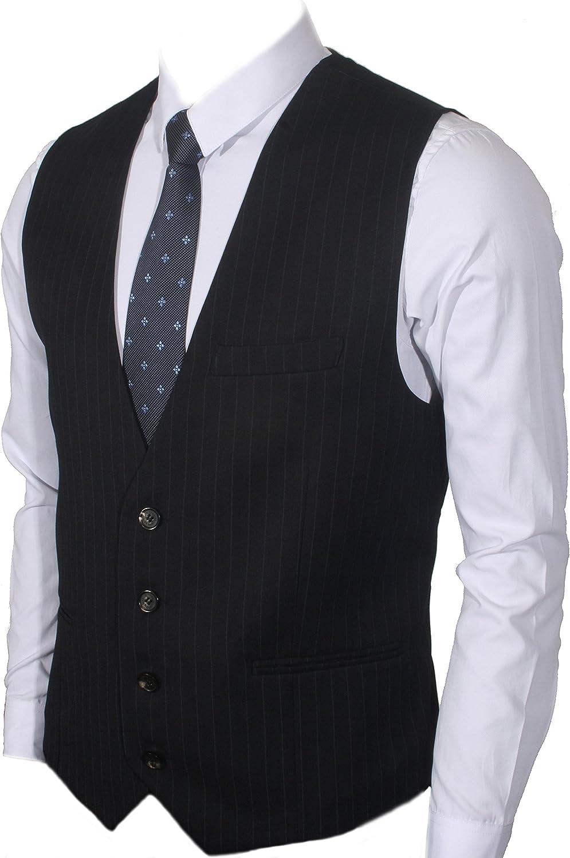 Ruth/&Boaz Mens 3Pockets 4Button Business Suit Waistcoat