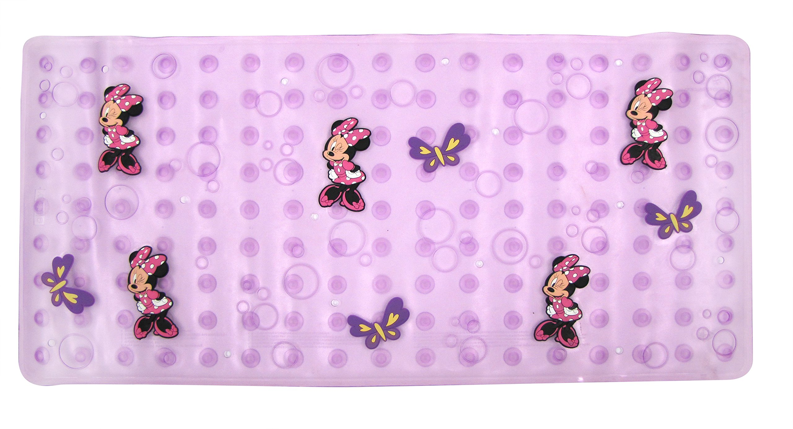 Disney Minnie Mouse''Bowtique'' Dimensional Bath Mat, Purple