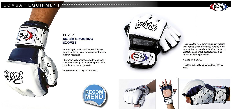 White//Black Fairtex FGV17 MMA Training Glove