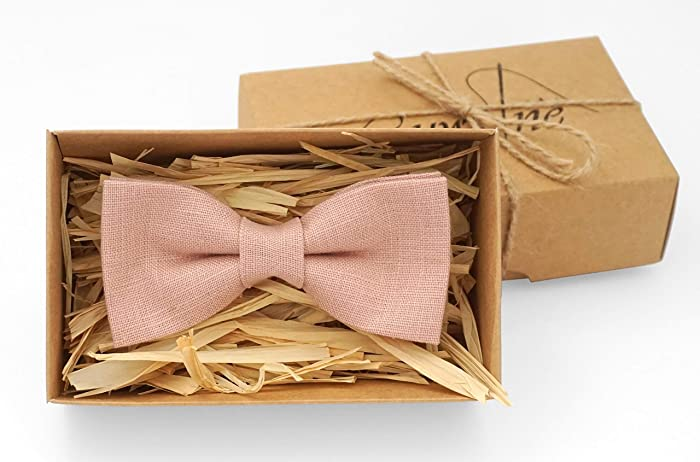 Bow Tie For Groomsmen As Boho Wedding Ideas Dusty Pink Rose Gold Ties Men And Toddler Baby Boys Unique Birthday Gift Husband Or Boyfriend