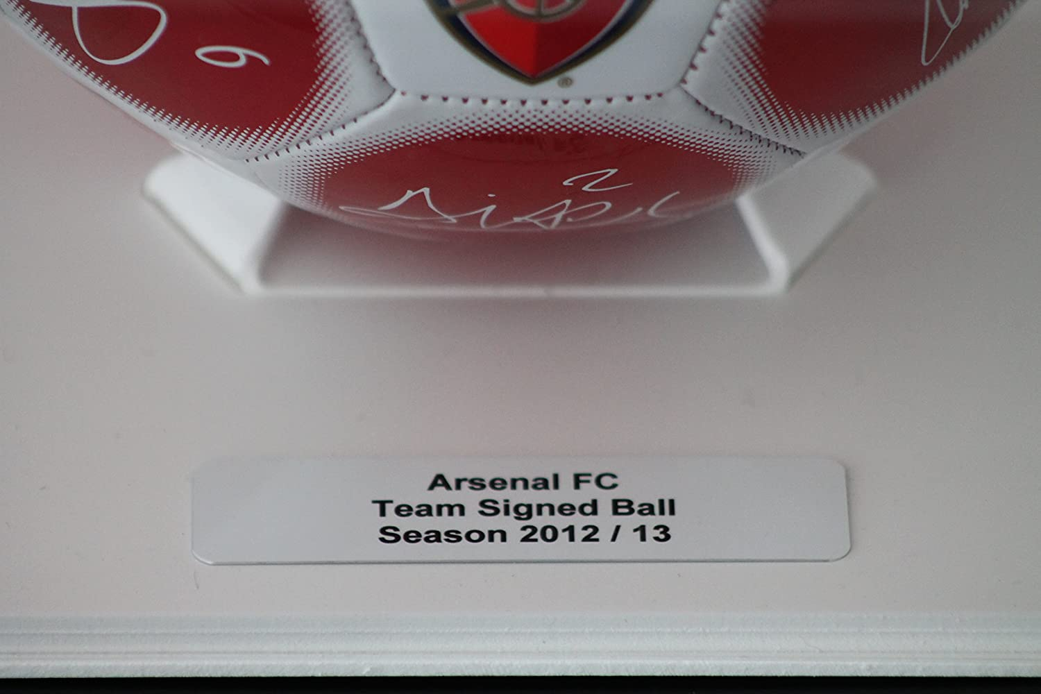 Dream Keepers Acrylic Football Display Case with Primo white base and FREE personalised plaque