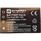SDNP120 Lithium-Ion Battery - Rechargeable Ultra High Capacity (3.7V 1800 mAh) - Replacement for Fuji NP-120, Pentax D-LI7 & Ricoh DB-43 Batteries