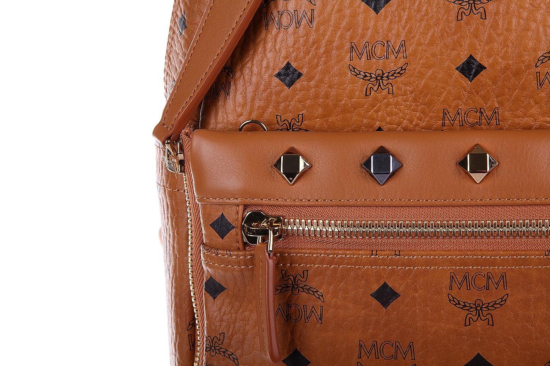 MCM mochila bolso de mujer en piel nuevo marrón: Amazon.es: Zapatos y complementos