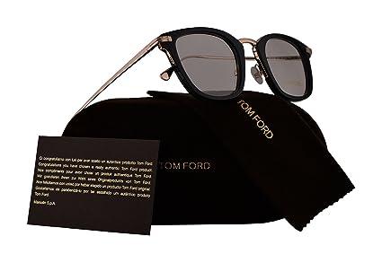 5981c9028cf67 Amazon.com  Tom Ford FT5496 Eyeglasses 47-23-145 Shiny Black w Demo ...