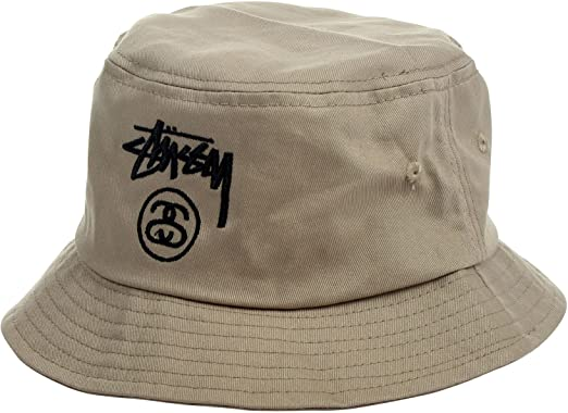 9a433bcd2 Stussy - Stock Lock Sp14 Bucket Hat, Small/Medium, Khaki: Amazon.co ...