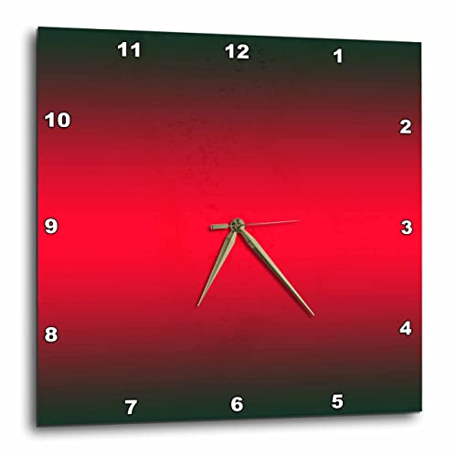 3dRose DPP_112050_2 Black, Red, Black Gradient Color-Wall Clock, 13 by 13-Inch