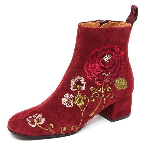 new products 11619 7b811 MALIPARMI E6498 Tronchetto Donna Bordeaux Scarpe Suede Boot ...