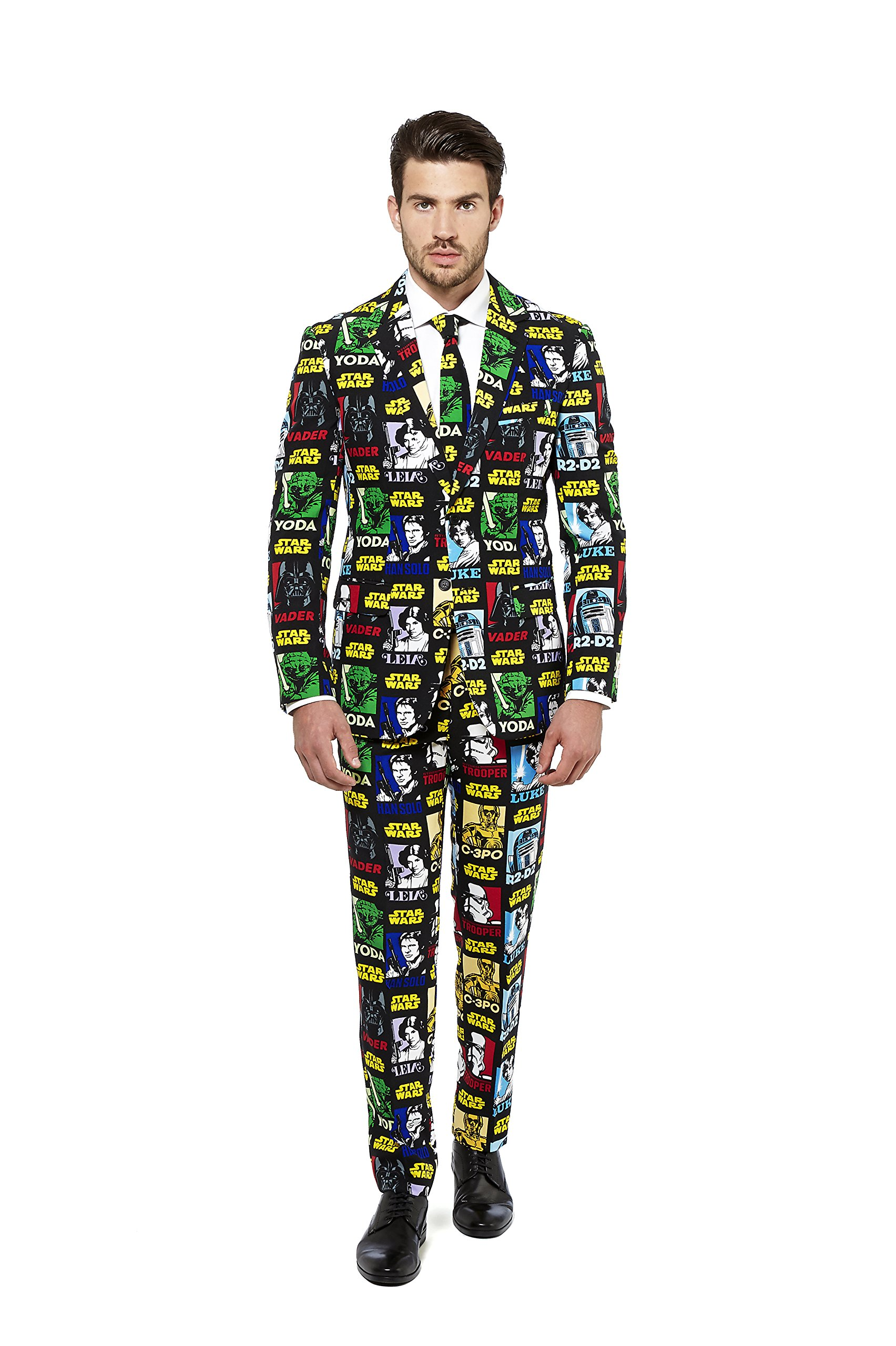 OppoSuits Mens 'Strong Force' Party Suit and Tie by, 36 by Opposuits