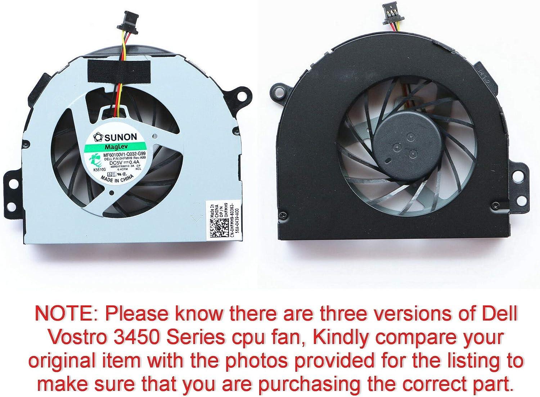 Todiys CPU Cooling Fan for Dell Inspiron 14R N4110 N4120 14RD M411R M4110 N4410 Vostro 3450 Series HFMH9 0HFMH9 CN-0HFMH9 G70X05MS2AD MF60100V1-Q032-G99