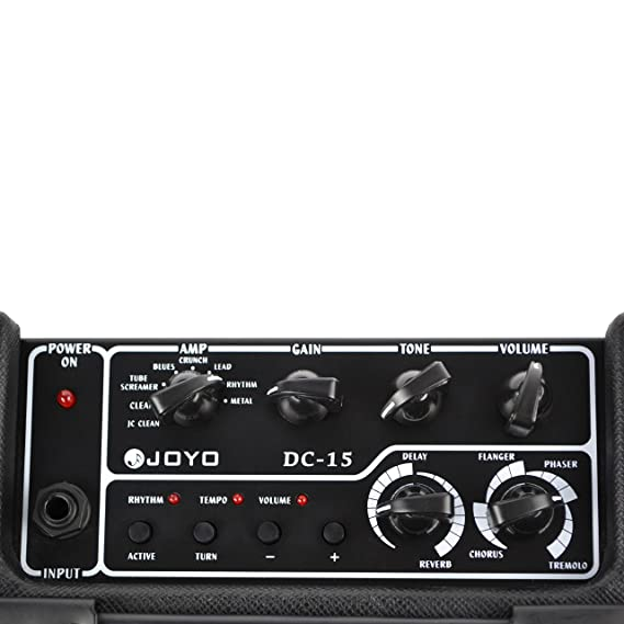 Amazon.com: Joyo DC-15 15W Digital Guitar Amplifier with Delay Reverb Effect 36 Pattern Drum: Musical Instruments