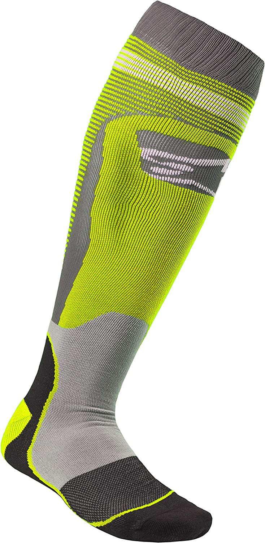 Black//Cyan Alpinestars Mens MX PLUS-1 Socks Large