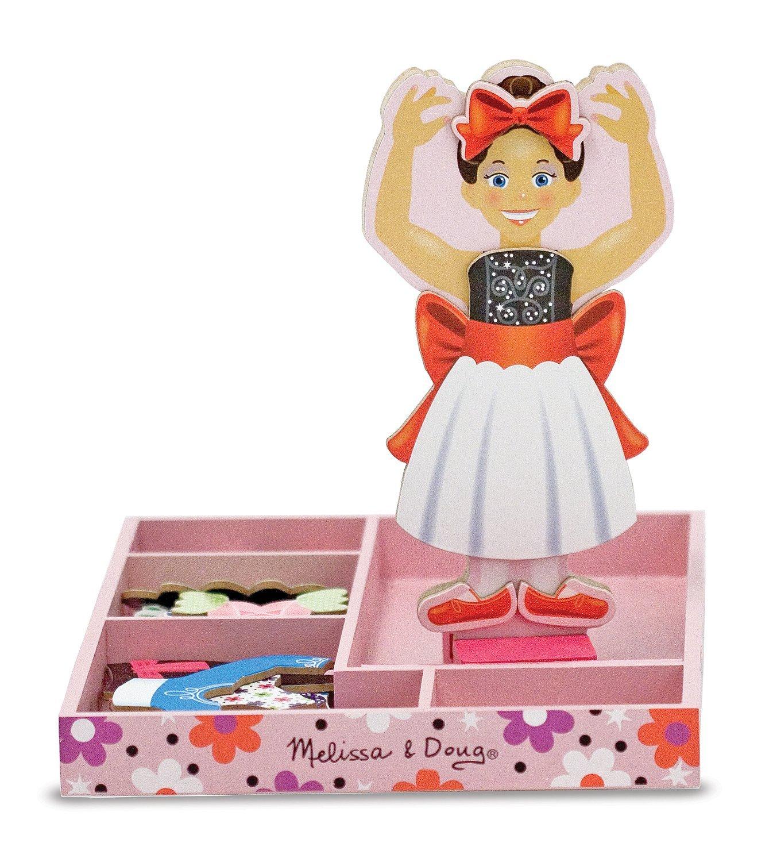 Nina Ballerina Magnetic Wooden Dress-Up Doll