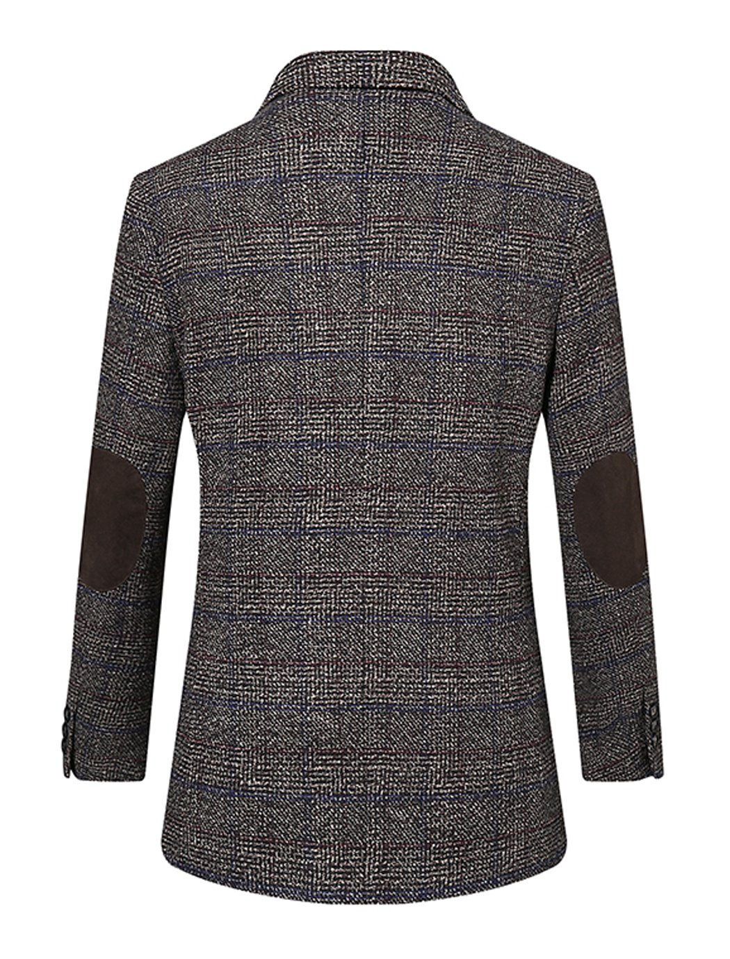 UNbox Mens Dress Casual Business Suit Two Button Slim Fit Suit Khaki XL by UNbox (Image #4)
