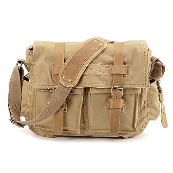 c1cc08f94c41 Anladia New Style Vintage Canvas Unisex Messenger Shoulder Bag ...