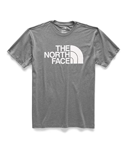 9970689b2 The North Face Men's Short Sleeve Half Dome T-Shirt TNF Medium Grey  Heather/TNF White Large