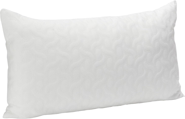 Pikolin Home - Almohada de copos viscoelásticos con tratamiento Aloe Vera , 40x90cm, altura 17cm (Todas las medidas)