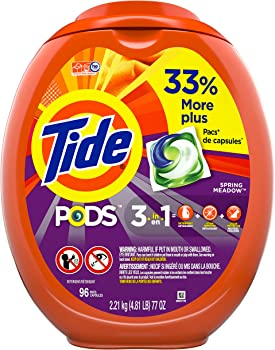 96-Count Tide PODS Laundry Detergent Liquid Pacs (various)
