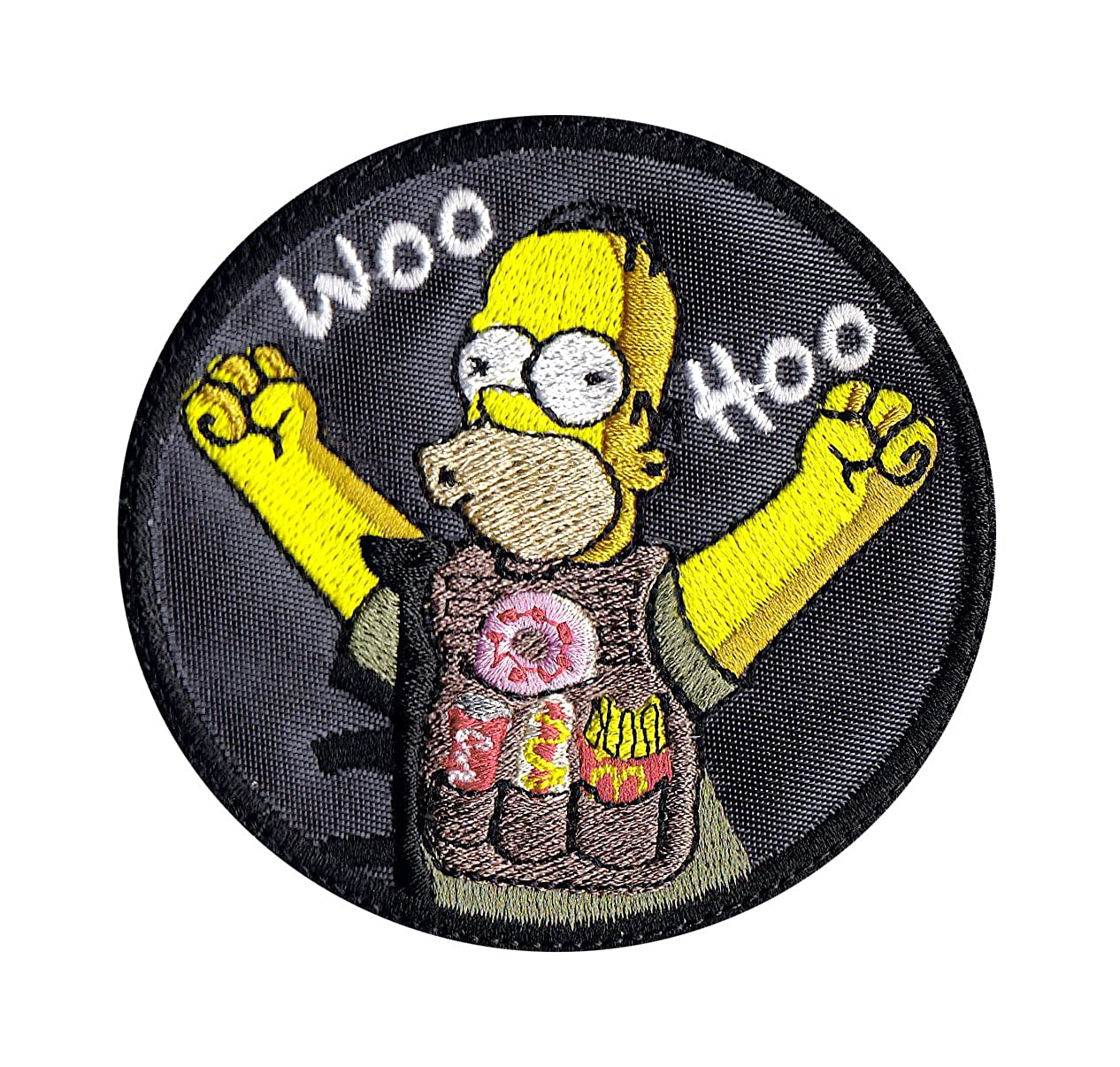 Multi Option Homer Hungry In The Army Simpsons Inspired Art Patch MP0083-CH-YL