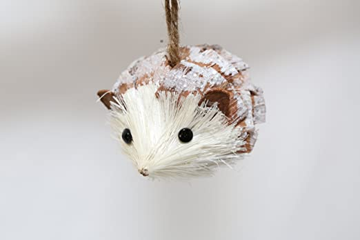 Natural Hedgehog Ornament by Naturalcraftonline