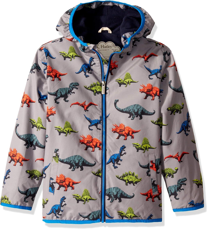 Taglia Produttore: 10 Grigio Wild Dinos 020 Bambino Anni Hatley Microfiber Rain Jacket Giacca Impermeabile