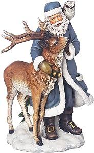 Joseph's Studio by Roman - Santa with Owl and Deer Figure, 9.25