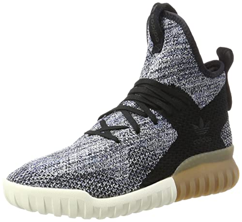87786053 adidas Unisex Adults' Tubular X Primeknit Low-Top Sneakers, (Core Black/Trace  Tactile Blue), 3.5 UK: Amazon.co.uk: Shoes & Bags