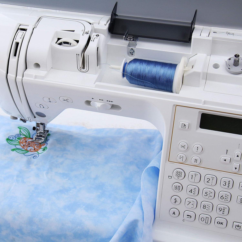 Threadart 40 bobinas de hilo de poliéster para máquina de bordar ...