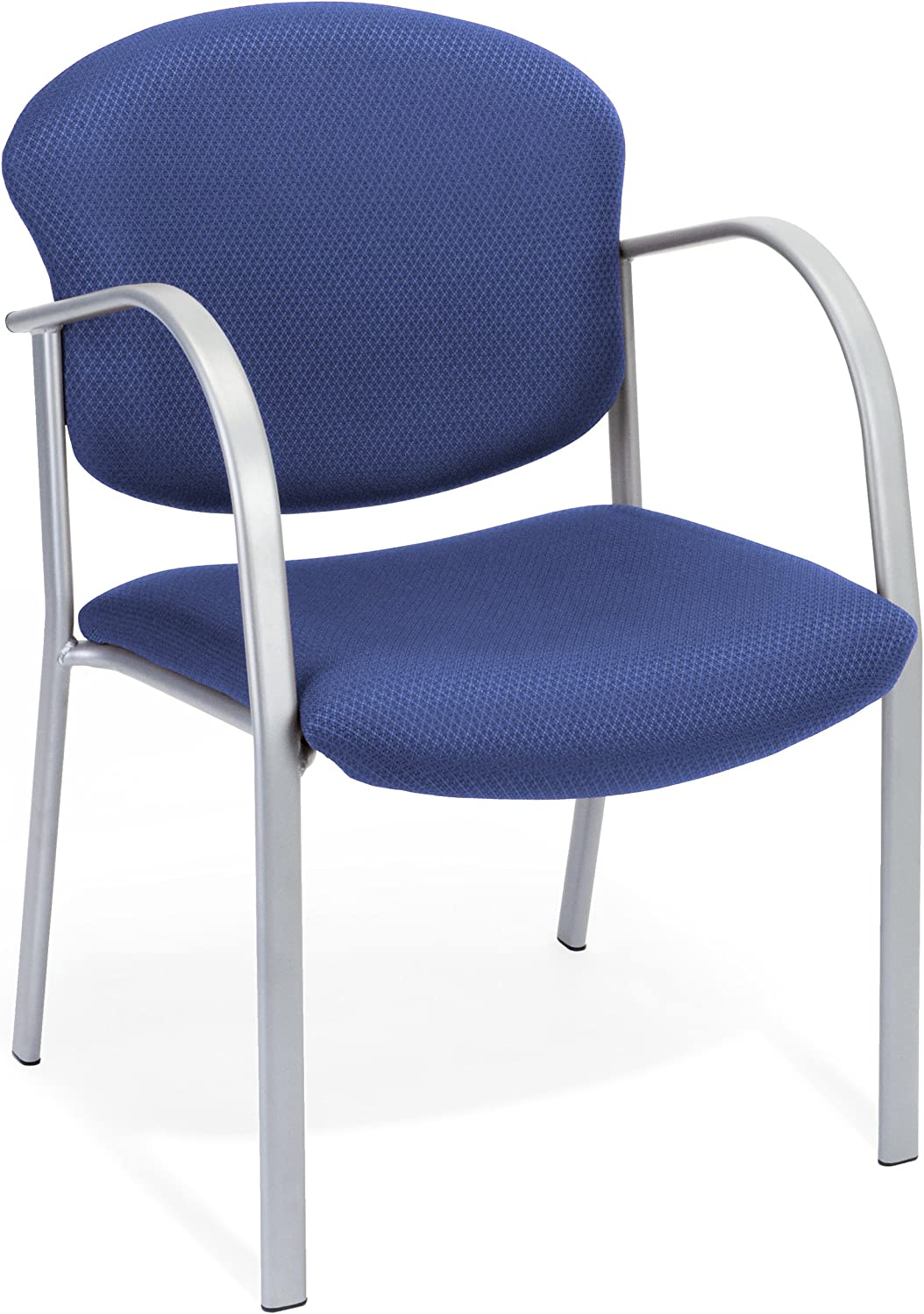OFM 10-10 Reception Chair with Arms - Fabric Guest Chair, Ocean Blue