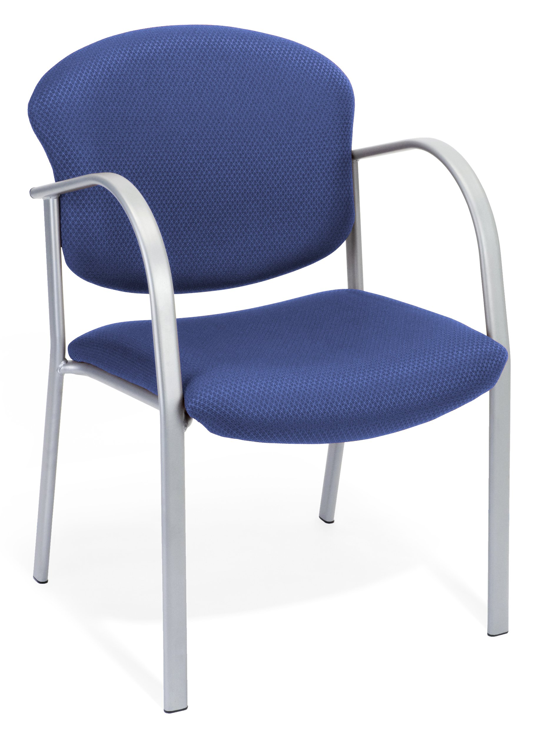 OFM 414-84 Reception Chair with Arms - Fabric Guest Chair, Ocean Blue