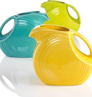 product image for Fiesta 67-1/4-Ounce Large Disk Pitcher, Lemongrass