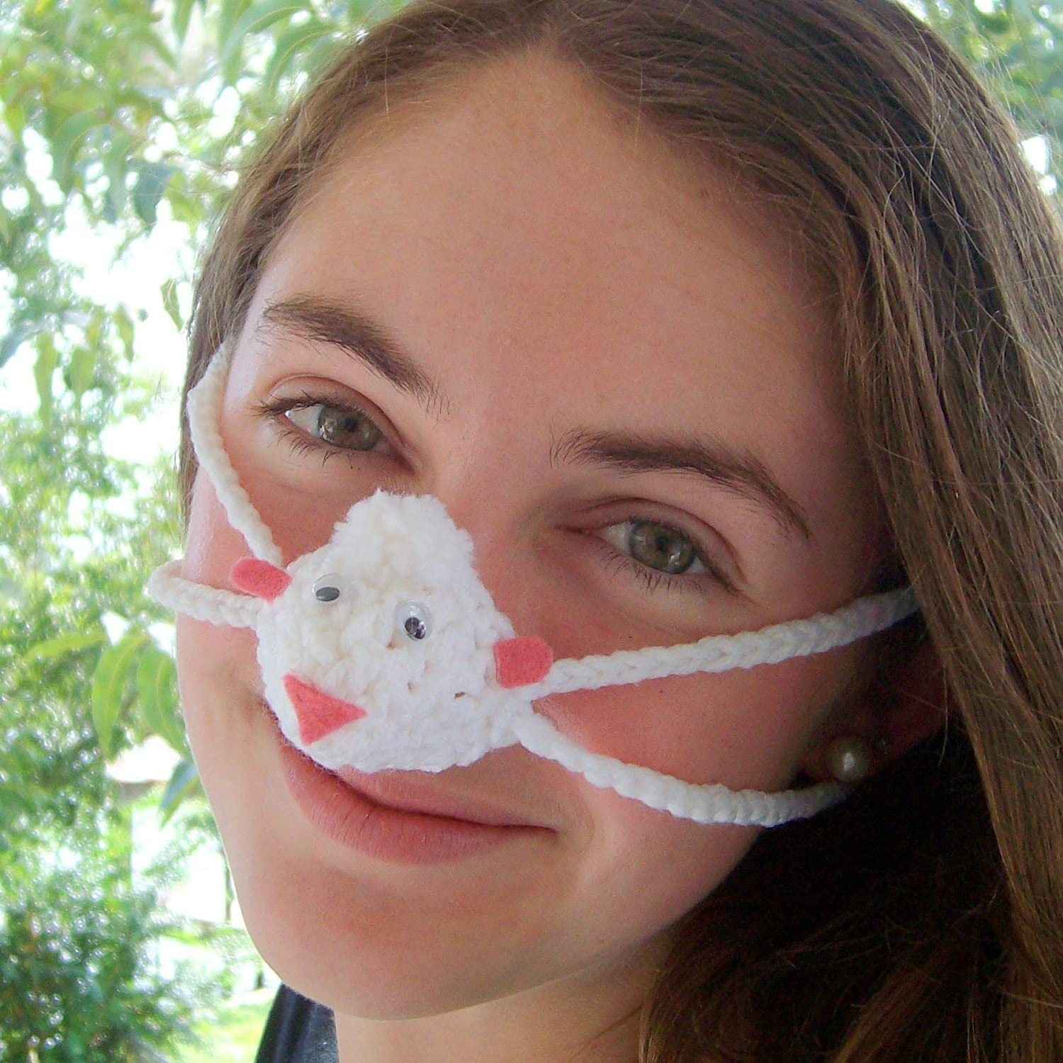 White Sheep Nose Warmer by Aunt Marty's Original Nose Warmers