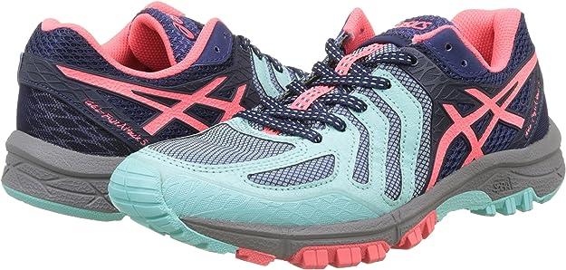 Asics Gel-FujiAttack 5, Zapatillas de Trail Running para Mujer, (Aqua Splash/Diva Pink/Indigo Blue), 36 EU: Amazon.es: Zapatos y complementos